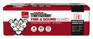 Package of Thermafiber Fire and Sound Guard insulation